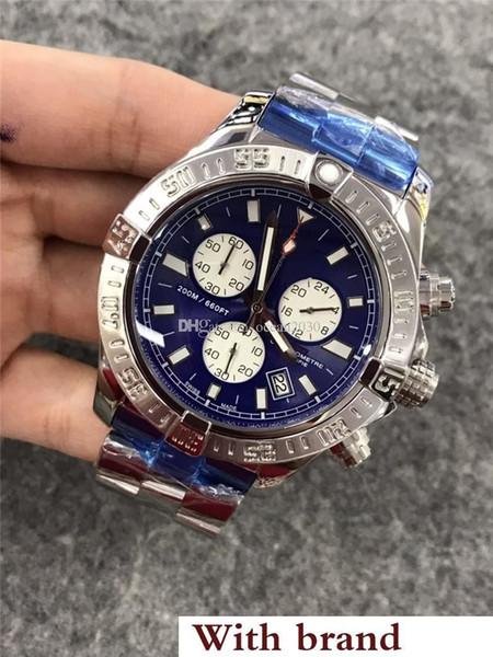 Reloj de lujo para hombre CHRONOMAT Movimiento de cuarzo Plata Hebilla plegable de acero Cronógrafo para hombre Punteros pequeños Cronómetro de trabajo AB011011 / C788