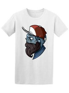 Hipster Zombie In Cap Tee Men's -Image by Wholesale