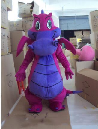 2019 factory sale Dragon Mascot Purple Dinosaurs Mascot Costume Adult Size Fancy Party Dress Christmas for Halloween Party Event