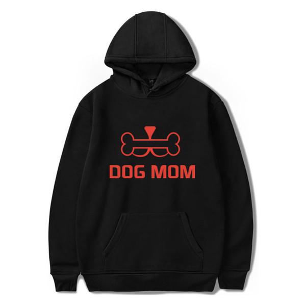 DOG MOM Printing Pattern 2D Тот же пункт 2019 новый толстовка с капюшоном свободного покроя с капюшоном с длинным рукавом тенденция повседневная одежда