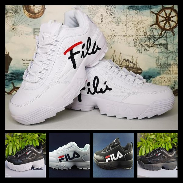 basket fila disruptor logo low dhgate