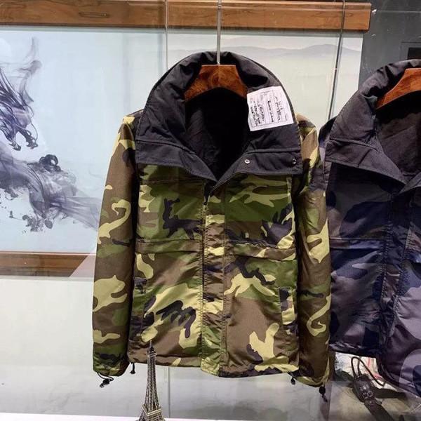 Mens Designer Casaco Jaqueta Moda Homens de Luxo Streetwear Jaquetas de Inverno Nova Chegada Dos Homens Marca Jaqueta Desgaste em Ambos Os Lados Roupas Tamanho M-2XL