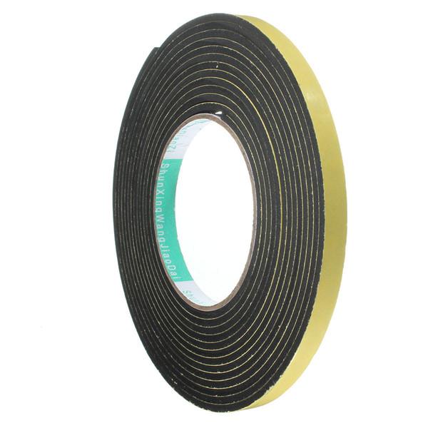 5 m * 10mm * 2mm / 3mm Single Sided Adesivo Impermeabile Stripping Schiuma Striscia di Gomma Nastro per Striscia di Tenuta Finestra