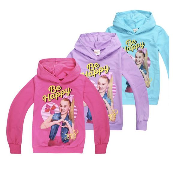 niña sudadera con capucha sudadera con capucha de dibujos animados jojo siwa sudadera con capucha para 4-12 años niñas niños niños ropa de moda prendas de vestir exteriores