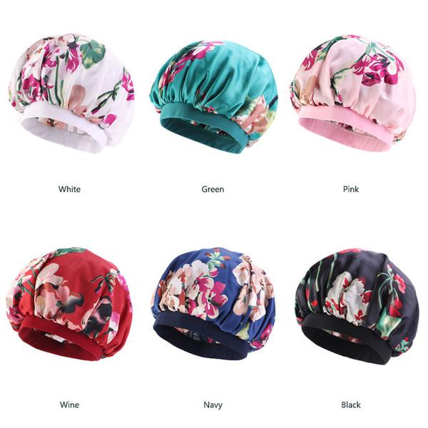 Colorful Women Print Silk DU-RAG Copricapo Accessori Wave Caps Rags Wide Band Bonnet Salon Hat Turbante Durag doo rag Headwrap