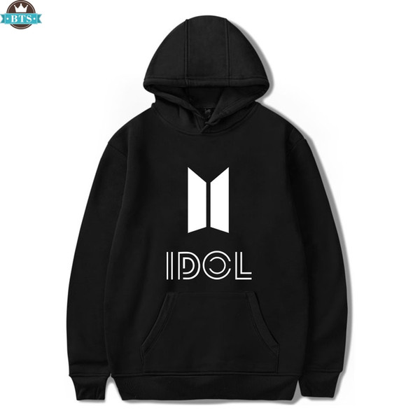 BTS je Dol Hoodie Sweats K-pop Hip-Hop Femmes Hoodies Sweatshirts Mode Casual Sweat Bangtan Harajuku Corée Vêtements