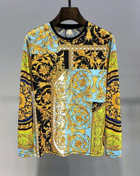 Осень Новая Мода Толстовка С Капюшоном Пуловер Высокого Качества О-Образным Вырезом Мужские Дизайнерские Толстовки Роскошные Случайные Мужчины Толстовка Азиатский Размер M-3XL
