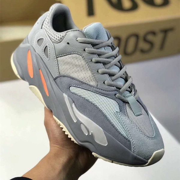 2019 new Top Authentic Originals 700 V2 Tephra FU7914 Utility Black 3M Reflective Kanye West Men Women Running Shoes Sports Sneakers