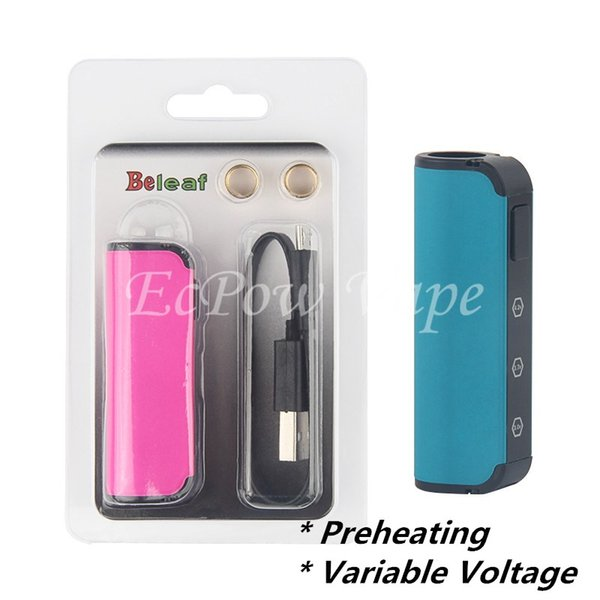 1 pz beleaf mini vape mod 450mah preriscaldamento batteria vape regolabile volt 3.3 v ~ 4.0 v impostazione ky34 mod magnetismo design 2 anelli per collegamento