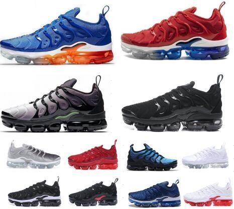 TN Plus Men Running Shoes Grape Red Violet Blue Tropical Sunset Triple Black White Womens Trainers Designer Sports Shoes Sneakers