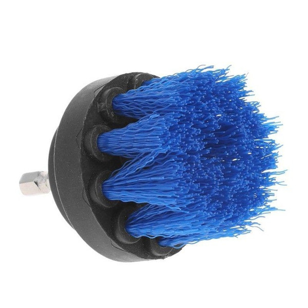 best selling 2pcs 2 inch Drill Cleaning Brush Power Scrubber Stiff Scrub Brush Bit Pad Bathroom Tile Tool