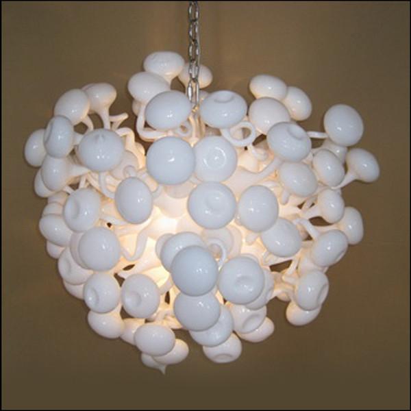 Modern Crystal Blown Glass Chandelier Lightings Modern White Customized Colored Murano Glass Pendant Lights for Study Decor