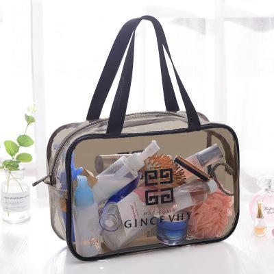 Transparent PVC Sac Organisateur De Voyage Effacer Beauté esthéticienne Sac À Cosmétiques Beauty Case Trousse De Toilette Make Up Pouch Wash Bag