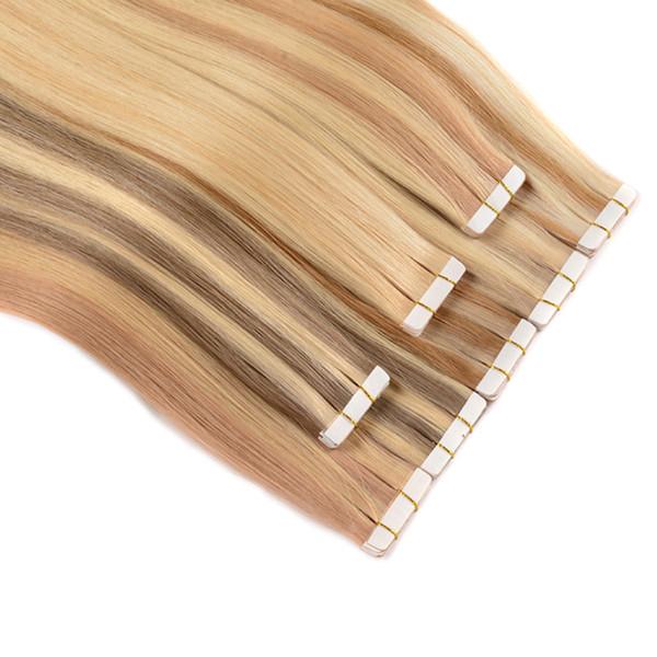 150 Gram = 60 adet 18 20 22 24 inç Tutkal Cilt Atkı PU Bant İnsan Saç Uzantıları HINDISTAN REMY Hızlı Teslimat, 4 renkler seçeneği, ücretsiz kargo