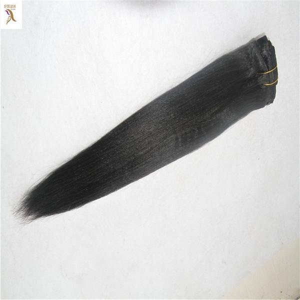 Color negro Cabello sin trama doble de 10-30 pulgadas sin trama Paquetes de 6a Paquetes de trenzas brasileñas rectas 100% Remy Extensión del cabello humano
