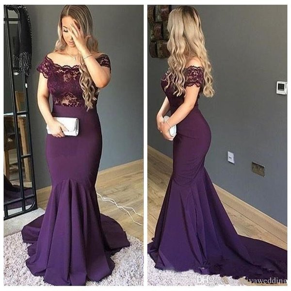 Beautiful Mermaid Evening Dresses Lace Top Custom Formal Vestidos De Soiree Slim Top Sale Prom Party Gowns Special Occasion Party Wear 169
