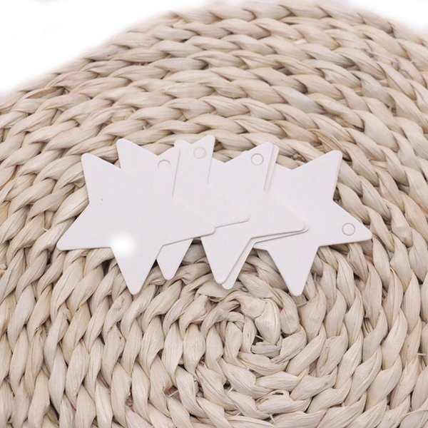 200pcs/lot White Kraft Paper Tags Stars Blank Wedding Party Favour Gift Pricing Label Card Pathetic Luggage Labels