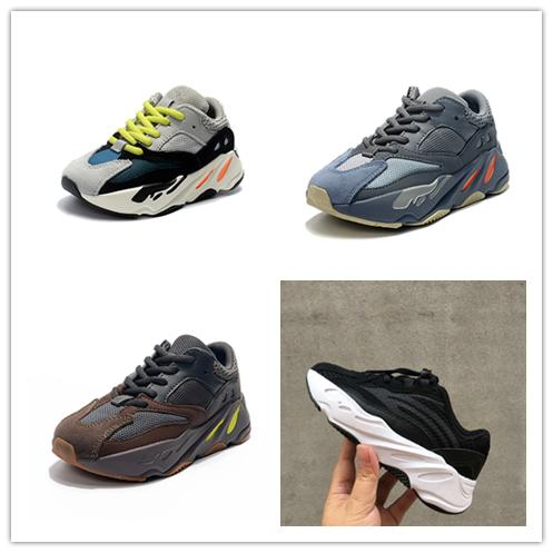 2019 Kids Running Shoes Kanye West Wave Runner 700 Youth Shoes Trainers Sply 700 Sports Sneakers Casual Toddler Shoe Size :28-35