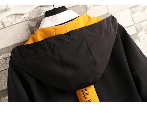Sonbahar Sonbahar Kış Erkek Bayan Moda Dış Giyim Jakcets Spor ceketler Yüksek Patchwork Tops 2019 Günlük WINDBREAKER M-4XL B100131Q rüzgarlıkları
