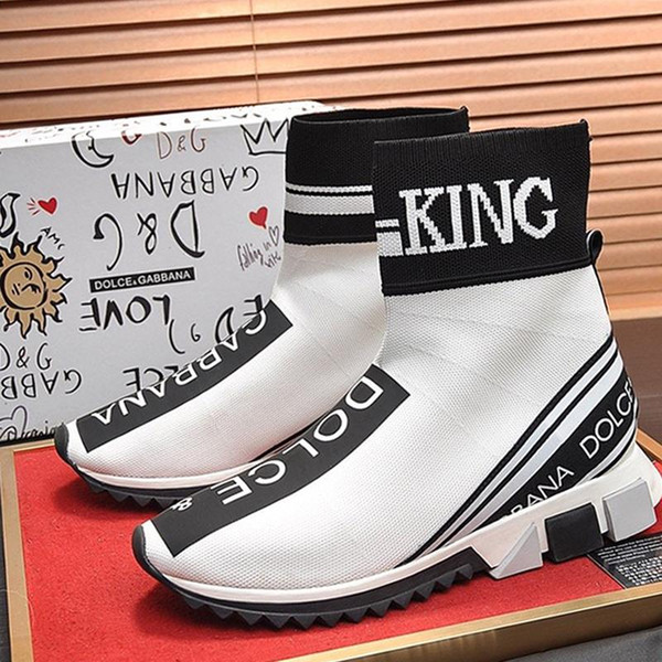 nouveau luxeDesigner New Arrivée Sorrento Haut Baskets montantes en stretch Mesh Hommes Chaussures de haute qualité respirante Chaussures de sport Sport Casual Slip