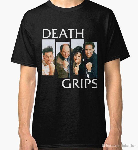 2018 Verão Homem Ocasional T Shirt Morte Grips Preto dos homens Tees Camisa Roupas Impressas Camisetas Streetwear Dos Homens