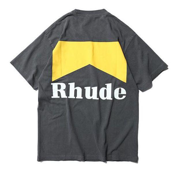 3fe8e9add7b 2019 Rhude Best Quality Logo Printed Women Men T shirts tees Hiphop Men  Cotton T shirt Shourt Sleeve For Summer