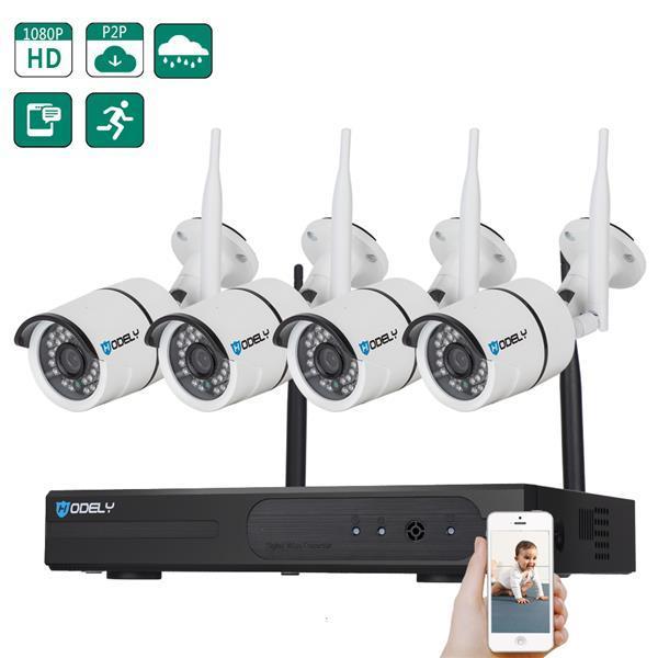 WiFi Система Камеры Безопасности 8CH 1080 P NVR 4 Шт. 720 P Открытый / Крытый WiFi Камеры Наблюдения с Ночным Видением Всепогодный Обнаружение Движения