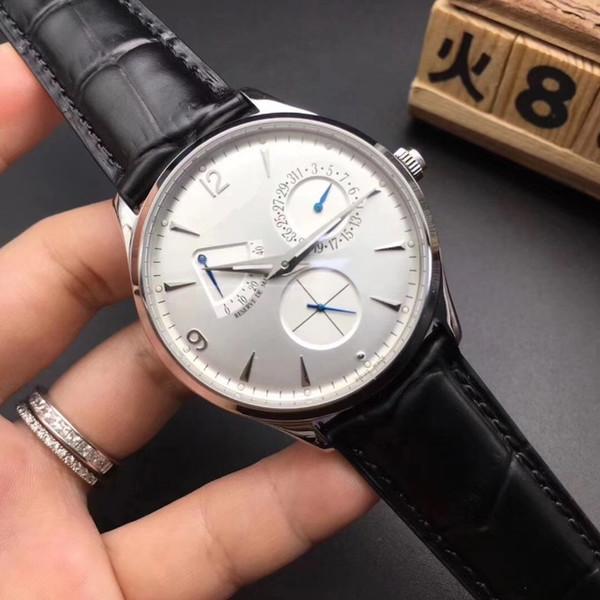 2019Three-eye and Six-needle Personal Meter Kinetic Energy Calendar Automatic Mechanical Watch Men's Swiss Watch High-grade Dermal Watch