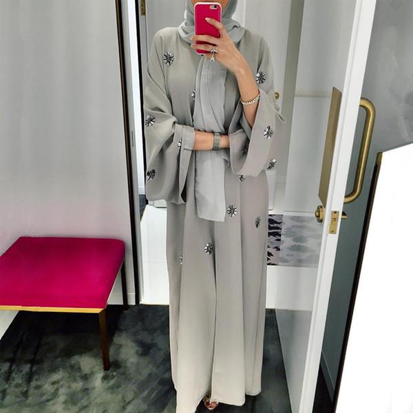 Abaya Femme Kimono Kaftan Robe Dubai Islam Muslim Hijab Kleid Abayas Kaftan Marocain Katar Oman Türkei Elbise Ramadan Kleidung