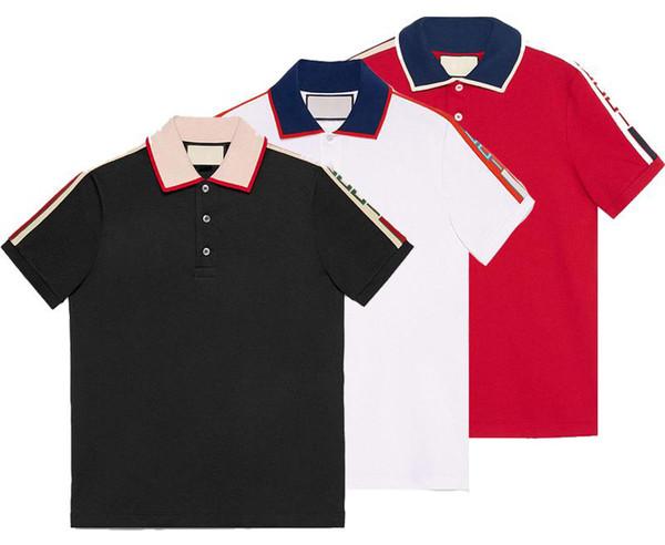 VVK Primavera de lujo Italia Camiseta Tee Camisas de polo de diseñador Bordado de la calle Liga Serpientes Little Bee Ropa de impresión Marca para hombre Polo S