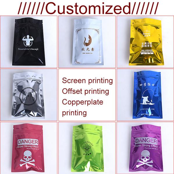 8cmx12cm Color aluminum foil packaging Zip lock sealed bag gift bag food Snack sealed bag can be customized