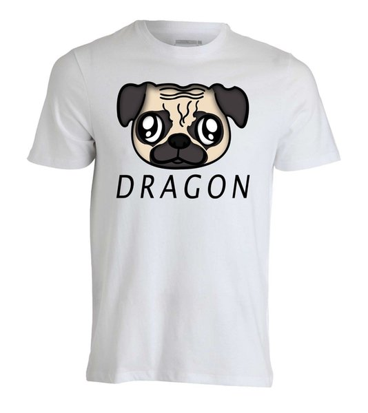 Dragon cute puppy fashioned slogan Men's White T-Shirt Sizes S-XXL fear cosplay liverpoott