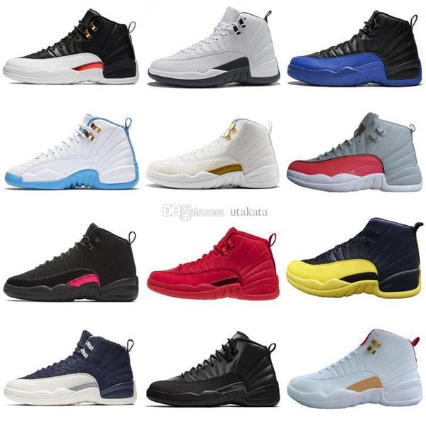 Qualité 12 12s Cny chinois Hommes et femmes Chaussures de basket-Wntr Michigan Gym Rouge International Flight Confitures Hommes de sport Chaussures de sport Concepteurs