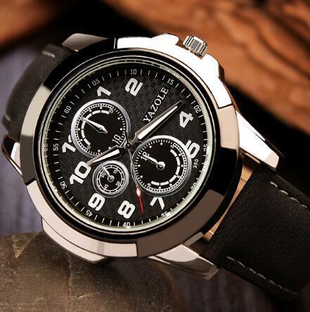 Korean version imitation 6-pin three-eye racing non-mechanical men's sports watch; Creative band luminous indicator quartz male watch