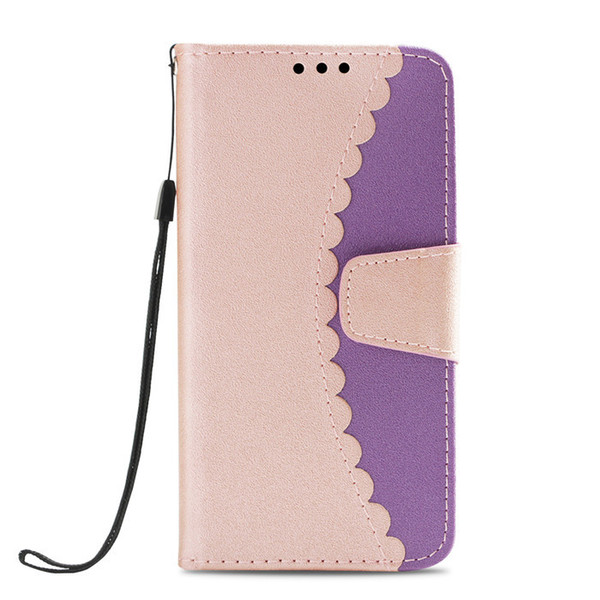Unique split joint design PU wallet case leather cell mobile phone cover for iphone xs max XR Xs cases