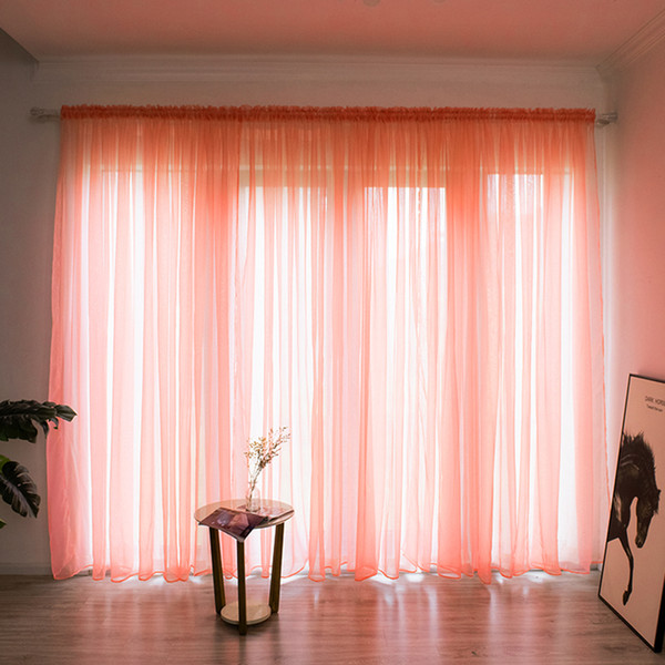 2019 Solid Color Sheer Curtain Window String Curtains Drape Panel Sheer  Tulle For Living Room Bedroom Modern Window Treatments From Bright689,  $38.39 ...