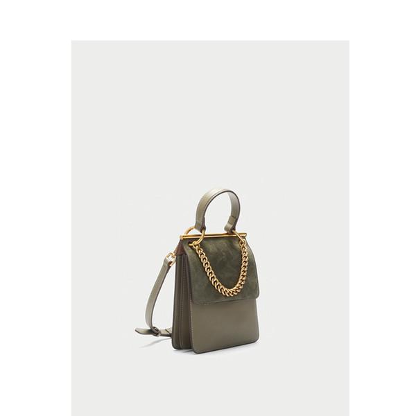 Elegant2019 Tea With Luxurious2019 Milk Green Handbag Back Suede Genuine Leather Small Square Package Single Shoulder Messenger Woman Bag