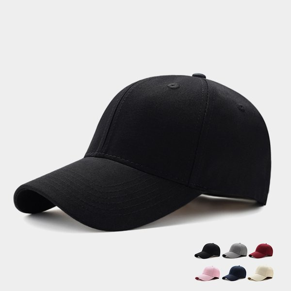 2019 Unisex Düz Kavisli Güneşlik Beyzbol kap Hat Katı Renk Ayarlanabilir Snapback Golf Topu Hip Hop Şapka Spor 8 Stiller Caps M622F