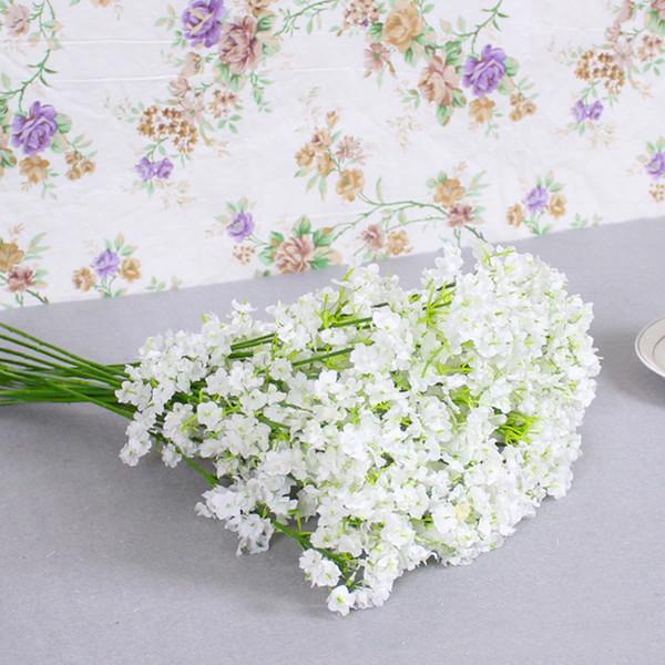 200 adet Yapay Bebek Nefes Çiçekler Yapay Gypsophila Sahte Ipek Çiçek Bitki Ev Düğün Ev Dekorasyon