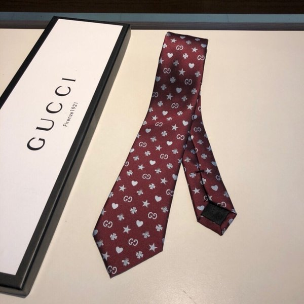 Guc best quality men's tie gifts for men Fashion tie can be freely matched with clothing tie