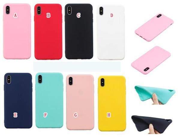Per il nuovo Iphone 2019 5.8 6.1 6,5 pollici X XS Max XR 8 7 Plus 6 6S 5 5S SE Samsung S10 S10E NOTE10 Cover TPU Soft Matte Pro Copertura liscia glassata