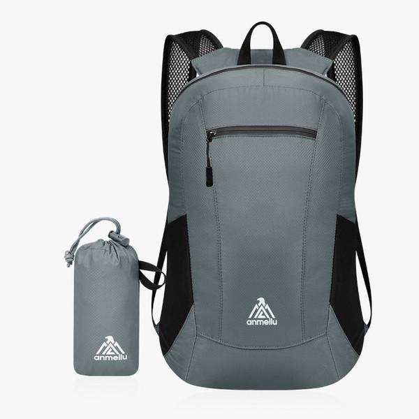 15L esportes Ao Ar Livre mochila de lazer luz de nylon à prova d 'água mochila homens mulheres sólida mochila de viagem escalada equitação saco de dobramento # 743846