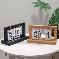 top popular Northern Europe contracted vogue is artistic originality woodiness turns over a page calendar contracted household desktop study desk calend 2020