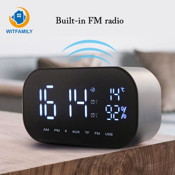 Multifunction Intelligent Wireless Bluetooth Clock FM radio with Speakers Home LED Display Digital Table temperature Alarm Clock