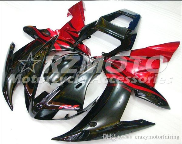 3 Free Gifts New Motorcycle Fairing Kit for YAMAHA YZFR1 02 03 YZF R1 2002 2003 YZFR1000 yzfr1 02 ABS Red Black G5