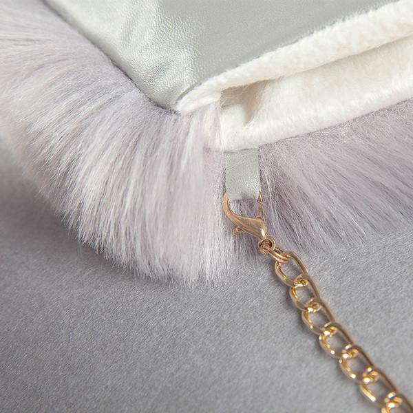 imitation mode-hiver gants de fourrure de renard cintre femme plus de velours épais gants en peluche cuir unisexe renard artificiel