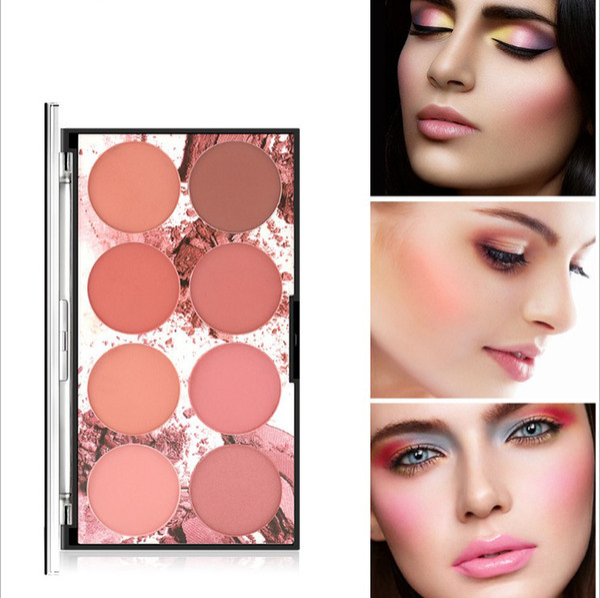 8 Color Makeup Long-Lasting Blush Powder Palette Cosmetics Professional Makeup Smooth Contour blush press Palette Set