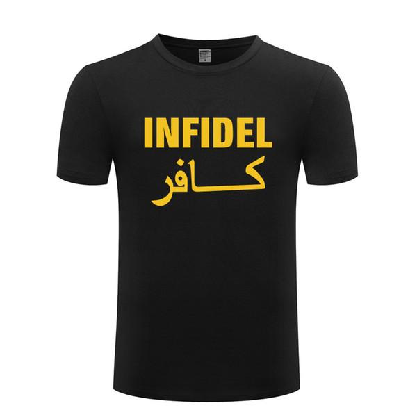Infidel Cool Military T Shirt Men Novelty Cotton Short Sleeve Funny Slogan Tshirt Streetwear Fitness T-Shirt for Men Tops Tees