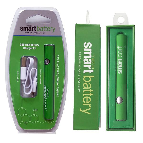 En Yeni Akıllı Sepet Pil 380mah Onceden VV Değişken Voltaj Alt USB Şarj Vape Kalem Pil Kalın Yağ Atomizer 510 Konu Pil