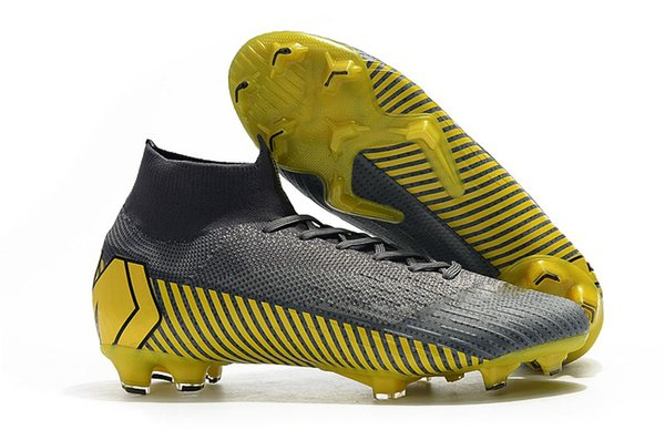 Grey Yellow High Ankle